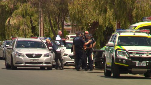 Police established a crime scene at the location but the gunman is still on the run and the victim is not cooperating.