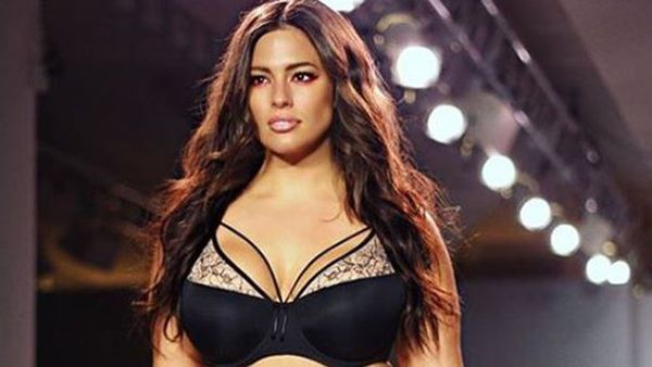 Ashley Graham wearing her lingerie line for Addition Elle
