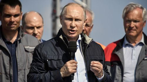 Russian President Vladimir Putin at the opening of the Kerch Bridge earlier this year.