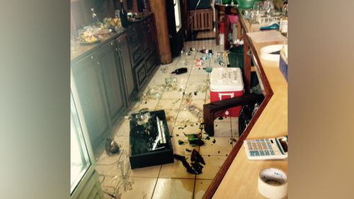 Items were thrown from shelves at the Kopoko Beach Bungalow Resort during the earthquake. (Supplied)