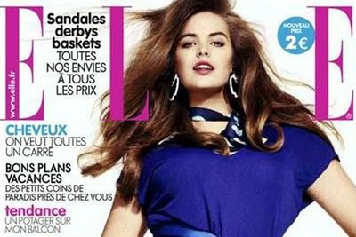 Oh, and while we're gushing about our girl crush... she was also the second plus-size model to front Elle France too.