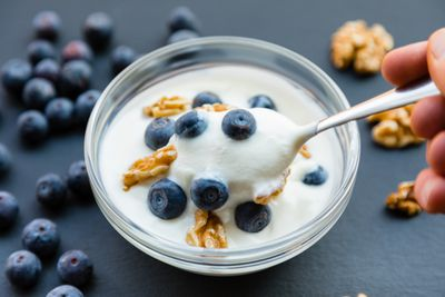 Greek yoghurt and berries