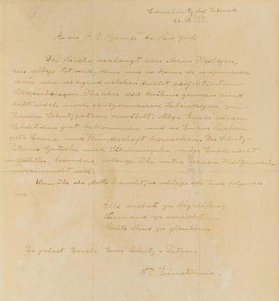 Einstein's humorous letter