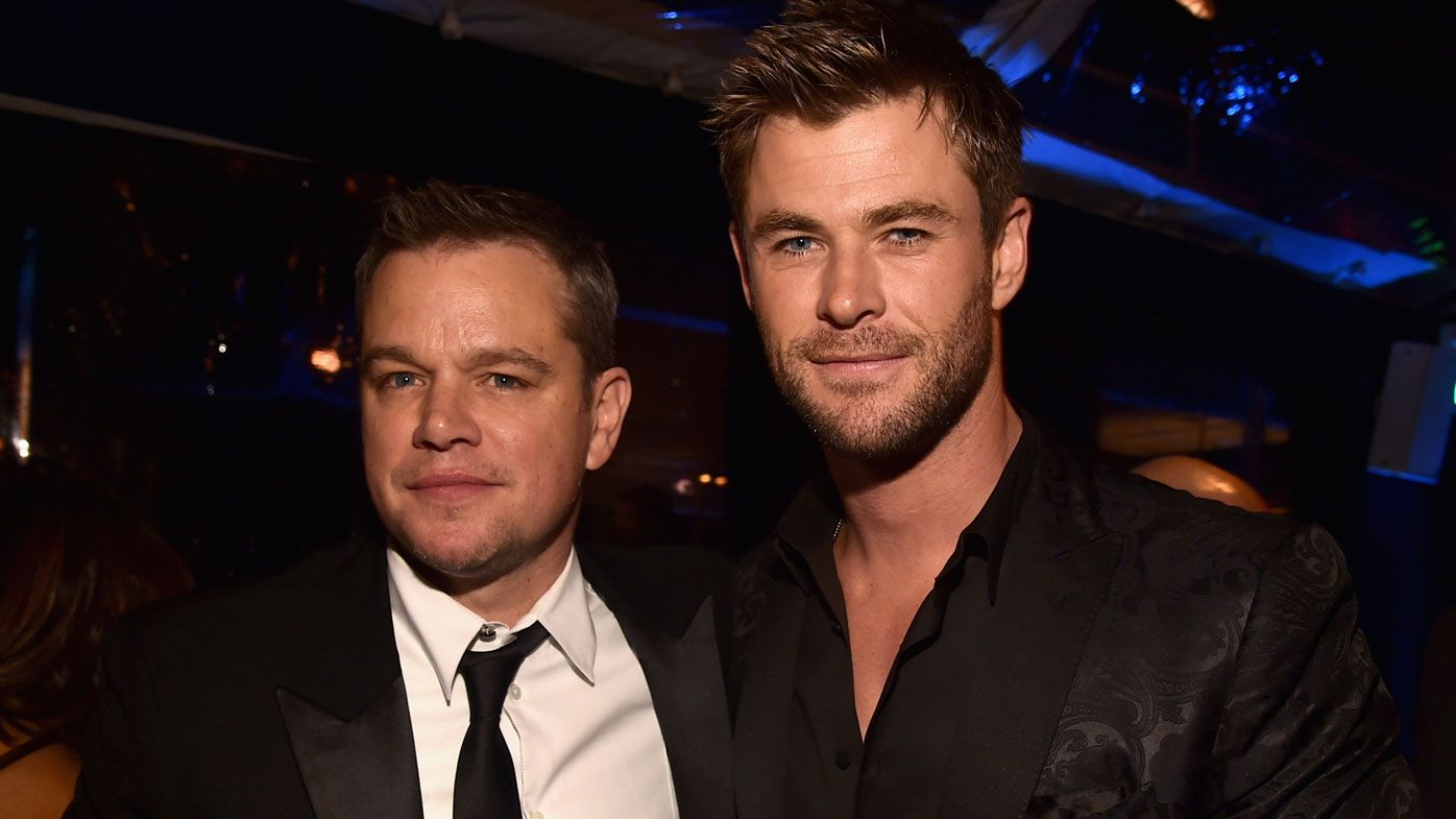 Matt Damon and Chris Hemsworth. Photo: Getty Images