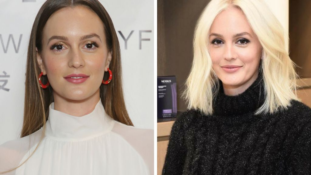 Leighton Meester's New Platinum Blonde Hair Leads Today's Star Sightings