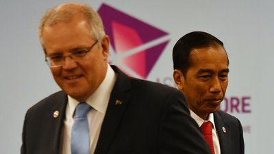 Morrison, Widodo greeting 'frosty'