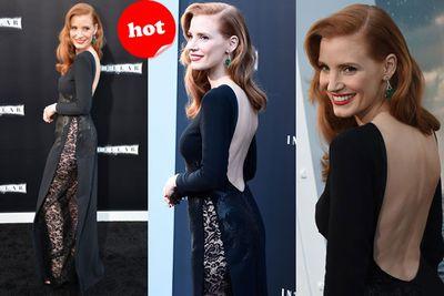 No undies? No worries...Jess showed her sassier side at the premiere of <i>Interstellar</i>.
