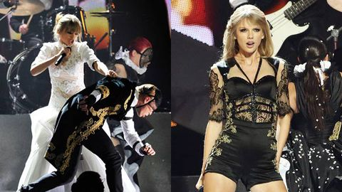 Watch Taylor Swift Strips Down To Lingerie Piece At Brit Awards With Harry Watching 9celebrity