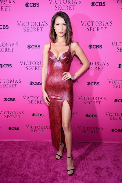Bella Hadid at the Victoria's Secret viewing party in New York.