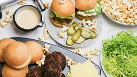 Family Food Fight: The Tartaglia's Beef Sliders with Cheeseburger Popcorn recipe