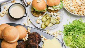 Family Food Fight: The Tartaglia's Beef Sliders with Cheeseburger Popcorn recipe