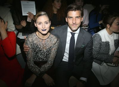 Olivia Palermo and Johannes Heubl front row at Christian Dior, Paris Fashion Week