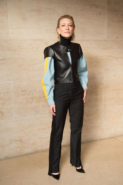 Cate's sexy take on the masculine pantsuit.