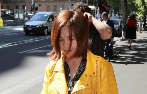 Nguyen has changed her appearance since her last court appearance. Picture: AAP