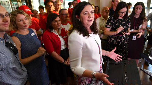 Speaking exclusively to 9NEWS before making her way to Government House, Ms Palaszczuk said the people of Queensland wanted certainty.