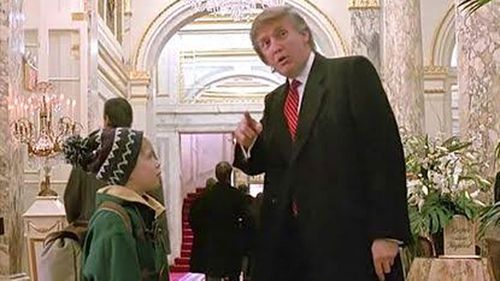 Donald Trump gives Kevin directions in Home Alone 2.