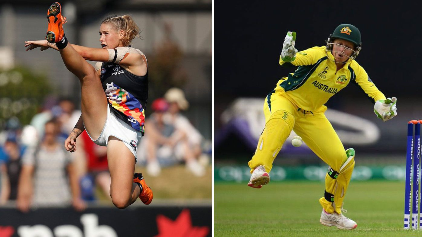 Alyssa Healy's perfect response to Tayla Harris' online trolls