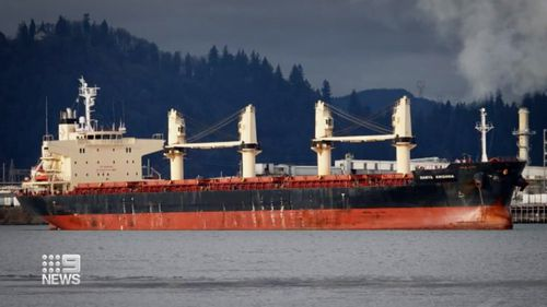 Another cargo ship off Western Australia, the Darya Krisha, has sick crew on board.