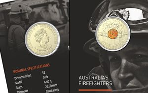 Special edition $2 coin launched to honour firefighters who battled bushfires