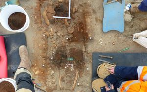 Archaeologists uncover Iron Age tomb of woman adorned with jewellry