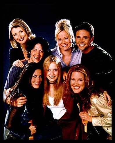 Melissa Joan Hart, Caroline Rhea, Beth Broderick, Soleil Moon Frye, Elisa Donovan, David Lascher and Trevor Lissauer.