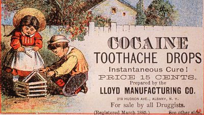 <strong>2. Cocaine Toothache Drops (1885)</strong>