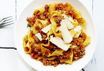 Lamb and thyme pappardelle