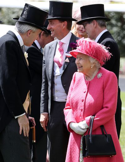 Her Majesty's vibrant pink outfit