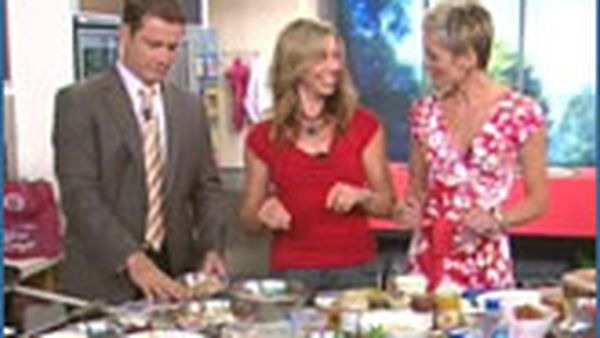 Teresa Cutter in the kitchen with Jessica and Karl