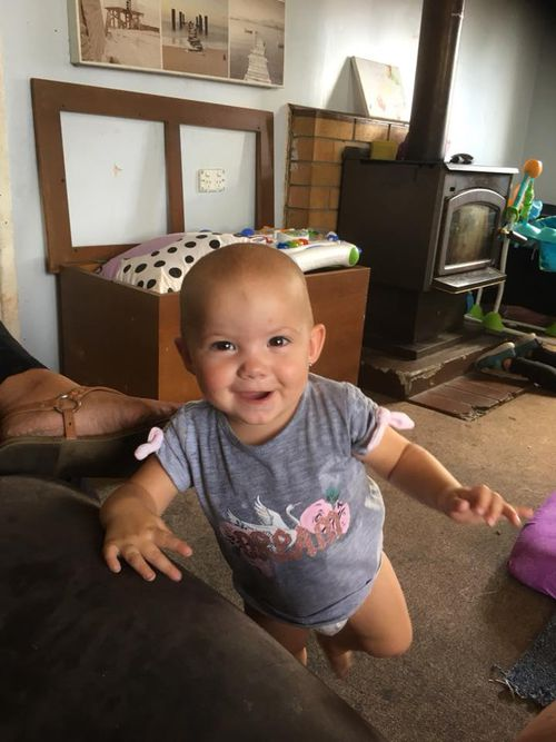 The 12-month-old girl was tragically killed when the family's dog attacked her in Inverell at 2.20pm yesterday. (Supplied)