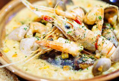 Traditional seafood chowder