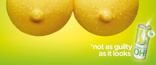 The offending ad from Sparkling Oh!