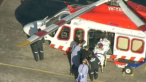 A group of nine riders were reportedly struck by the 4WD. (9NEWS)