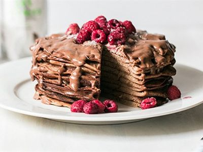 Buckwheat chocolate pancakes
