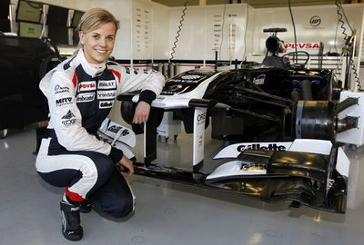 Last year, she competed in free practice at the British Grand Prix.(AAP)