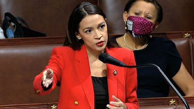 Alexandria Ocasio-Cortez, D-N.Y., speaks on the House floor, Thursday, July 23, 2020 on Capitol Hill in Washington.