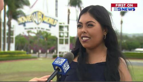 Raani Maharaj watched on as people were left dangling in the air. (9NEWS)