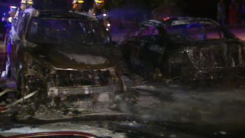 Three vehicles destroyed in suspected arson attack north-west of the Gold Coast