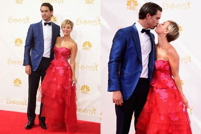 <i>Big Bang Theory</i>'s bubbly blonde couldn't stop swapping saliva with her new husband, tennis pro Ryan Sweeting.