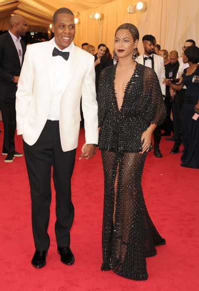 Jay-Z and Beyonce in Givenchy at 2014: Charles James: Beyond Fashion the 2014 Met Gala