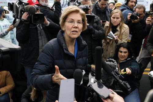 Elizabeth Warren is on the rise within her party, although there are fears she is too liberal to be accepted by mainstream America.
