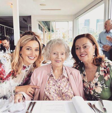 Jasmine Yarbrough reunites with her grandmother in Queensland.