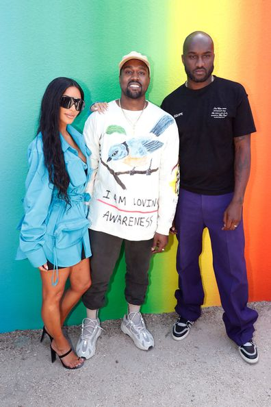 Kim Kardashian, Kanye West and Louis Vuitton designer Virgil Abloh