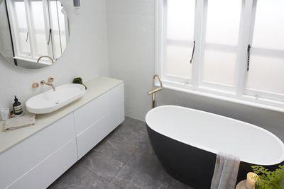 """Nice bathroom if it was finished,"" said Neale."