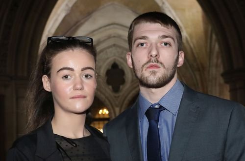 "Alfie's parents, Tom Evans and Kate James, are said to be ""heartbroken"" by the toddler's death after trying to raise funds to take him to Rome for further care. Picture: AAP."