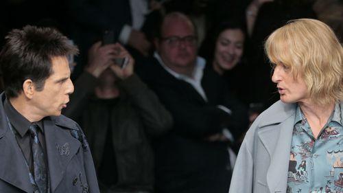 The pair played Derek Zoolander and Hansel in the 2001 film 'Zoolander'. (AAP)