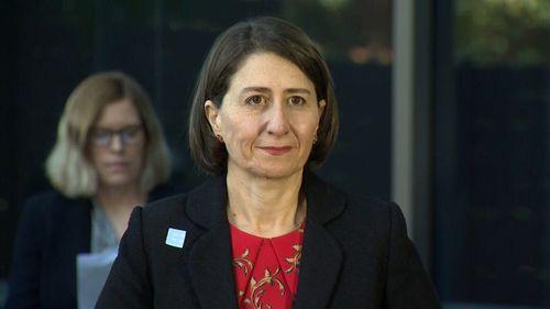 Premier Gladys Berejiklian addresses the media during a daily COVID-19 briefing.