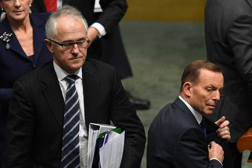 Malcolm Turnbull (left) was to replace Tony Abbott as Prime Minister in yet another leadership spill.