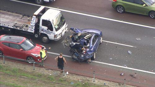Kwinana Freeway crash leaves four hospitalised