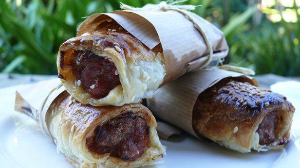 Australia Day tucker: chorizo and onion sausage rolls